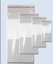 "Dukal Dawn Mist Plastic Re-closable, 2 mil, 8"" L x 10"" W, Clear with White Block ZIP810WB"