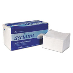 "Acclaim Napkins - 1ply 12.5"" by 11.5"" white 6000 ct."