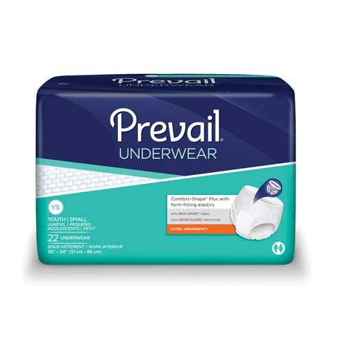 "Prevail Extra Underwear - Youth / Small 20"" to 34"" Waist"