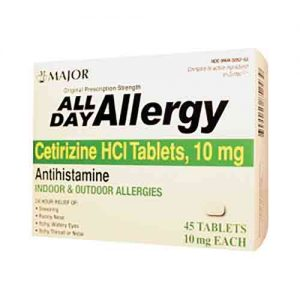 10 mg Cetirizine HCl Tablets