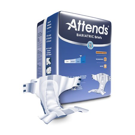 Attends Advanced 2X-Large Heavy Absorbency Tab Closure Unisex Adult Briefs
