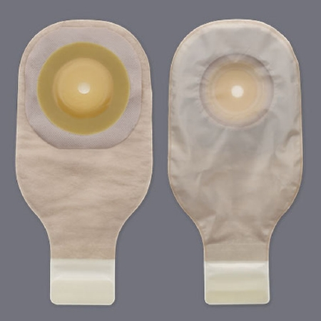 "Premier One-Piece Ostomy Pouch with 2"" Stoma - Convex Flextend Barrier, Clamp Closure, Tape"