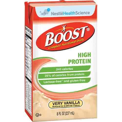 Boost High Protein Vanilla by Nestle - 8 oz Tetra Brik - 4390094139