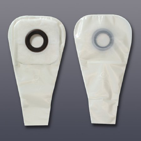 Karaya 5 One-Piece Ostomy Pouch System with 1-1/8 Inch Stoma, Pre-Cut Convex Skin Barrier, Drainable