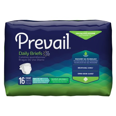 Prevail Youth Size Adult Brief, X-Small, Heavy Absorbency