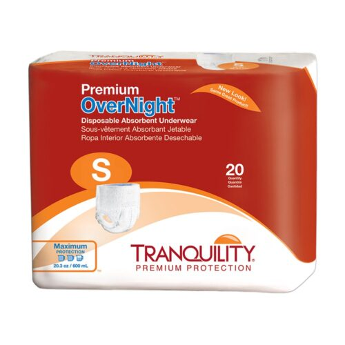 Tranquility Premium OverNight Disposable Underwear, Small, Heavy Absorbency, 2114