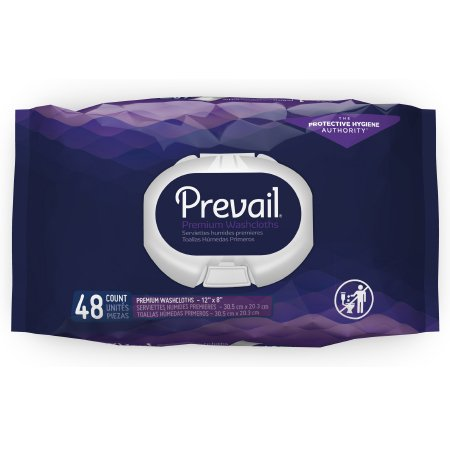 Prevail Premium Pre-moistened Washcloths, Fresh Scent, Soft Pack with Press Open Lid