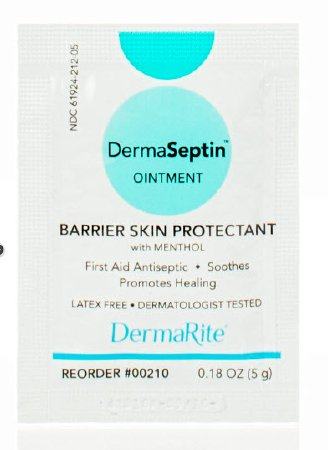 DermaSeptin Skin Protectant Ointment, 5 Gram Individual Packets, Scented, Box of 144