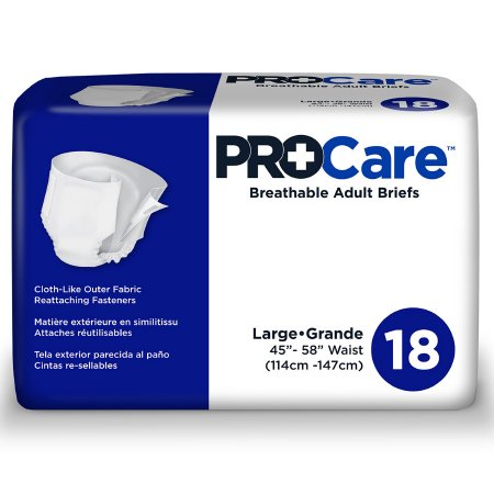 ProCare Adult Briefs, Large, Heavy Absorbency