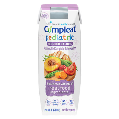 Nestle Compleat Pediatric Reduced Calorie Formula - 8.45oz Carton - Real Food Ingredients - 4390038074