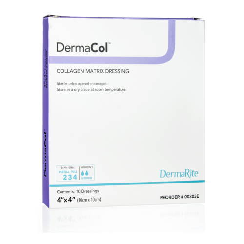 Dermacol 4x4 Inch Collagen Dressing, Sterile, Box of 10