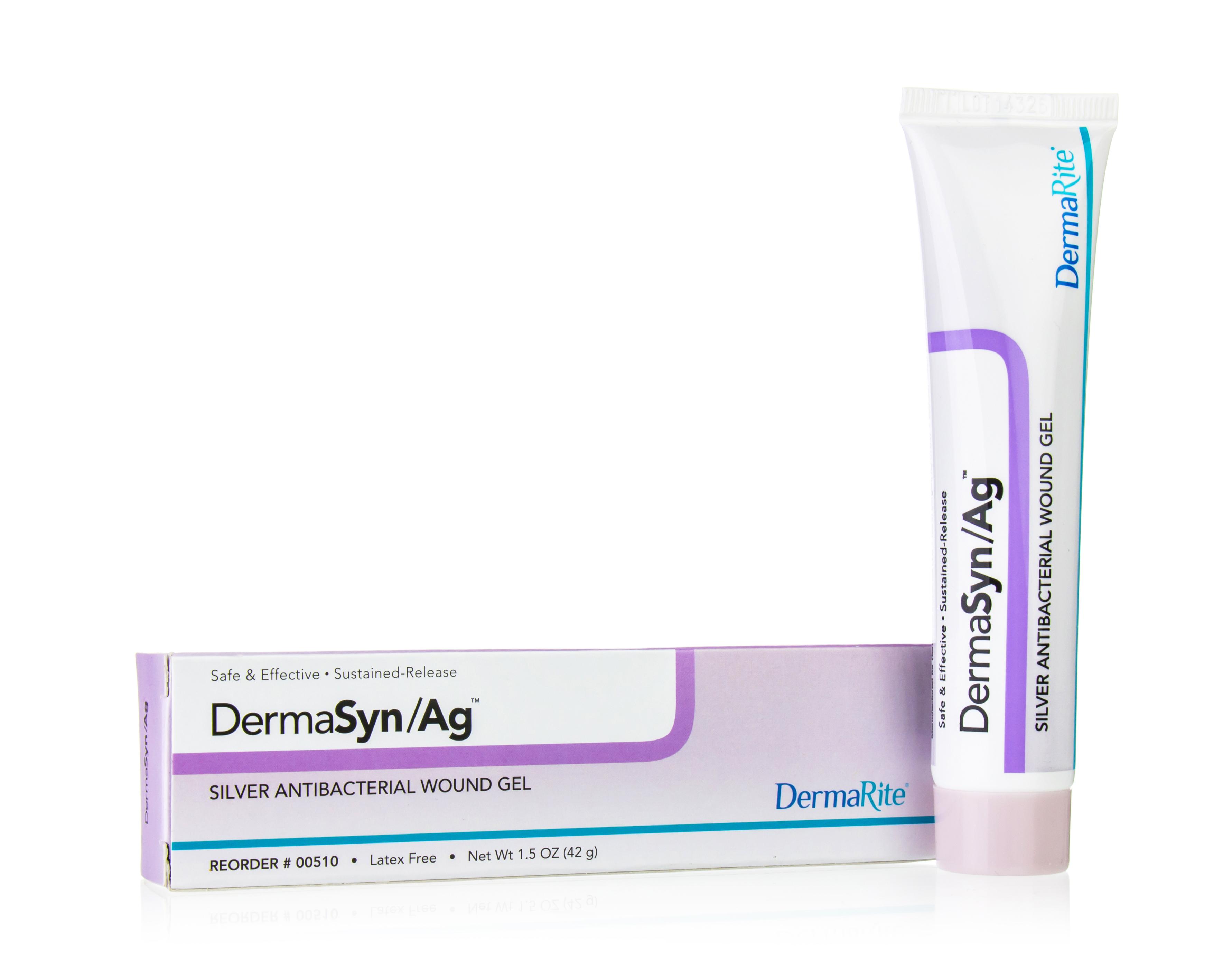 DermaSyn/Ag Silver Wound Gel by DermaRite Industries, 1.5oz Tube