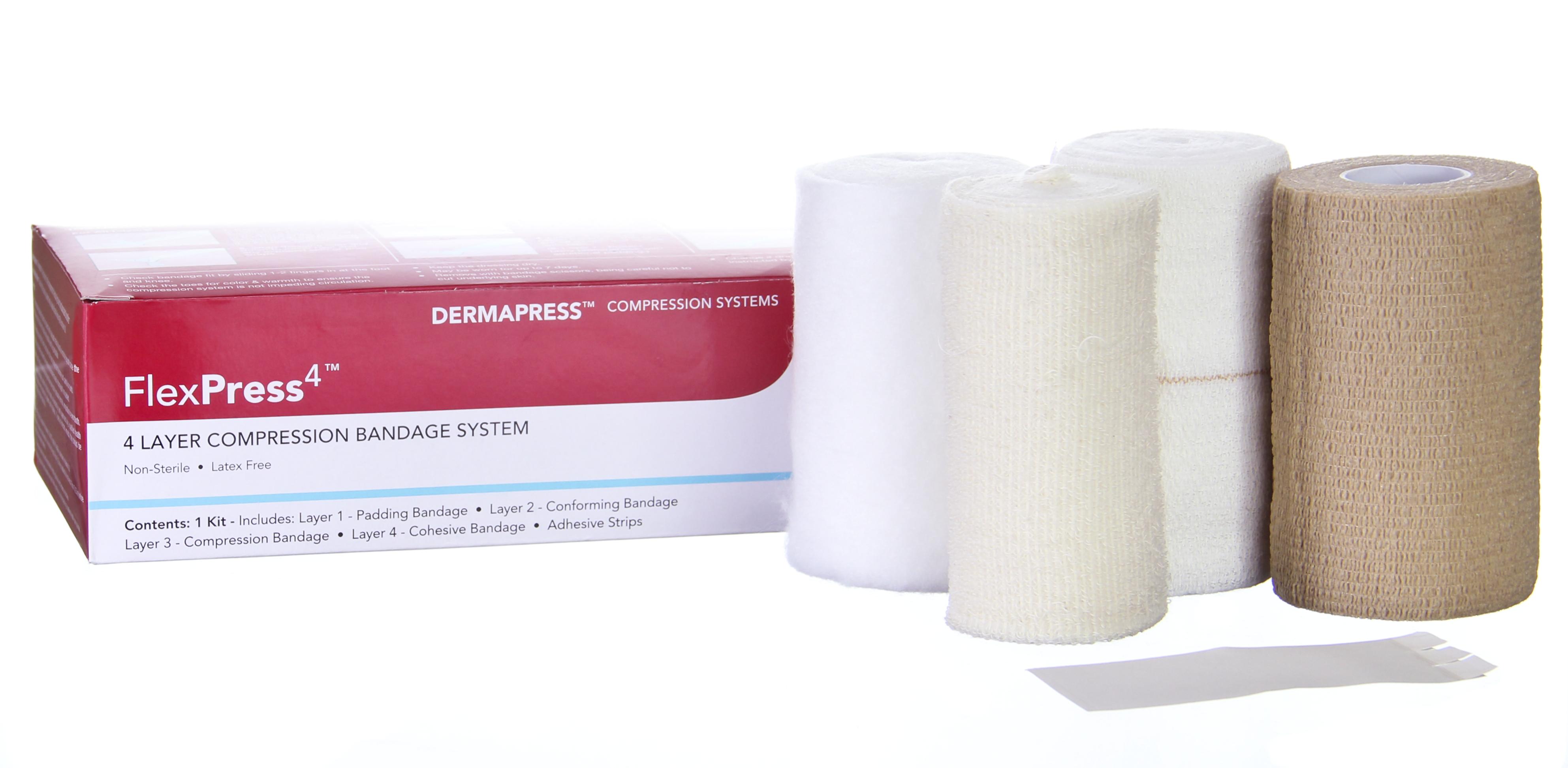 FlexPress4, 4 Layer Compression Bandage System, Standard Compression Tape, NonSterile