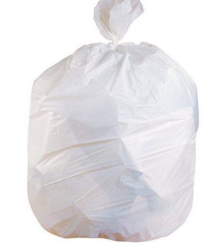 Trash Bag, Can Liner White - 40-45 Gallon light duty