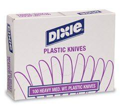 Dixie Plastic Knives - Medium Weight Disposable Knife KM207