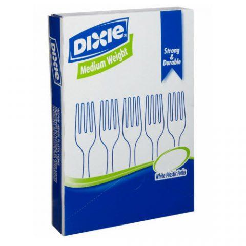 """Dixie Heavy-Medium Weight Fork 6.31"""" White FM207"""