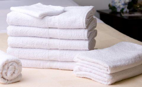 """100% Cotton Bath Towel (White) 8LB 24""""x 48"""" TE244880"""