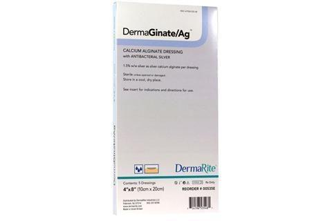 4X8 Inch Alginate Dressing with Antibacterial Silver