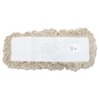 """Industrial Dust Mop Head White 18"""" BWK1318"""