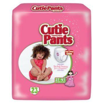 Cuties Girl Training Pants, 3T/4T 32-40lbs CR8008