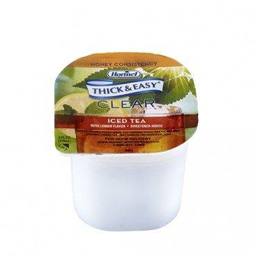 Thick and Easy Iced Tea Flavor, Honey Consistency Thickened Beverage 4oz 32870
