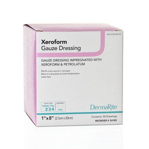 2X2 Inch Gauze Dressing Impreganted with Xeroform and Petrolatum