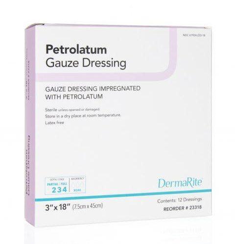 3X18 Inch Petrolatum Gauze