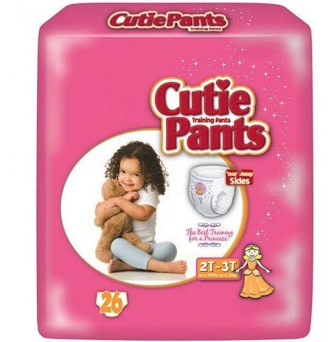 Cuties Girl Training Pants, 2T/3T up to 34lbs CR7008