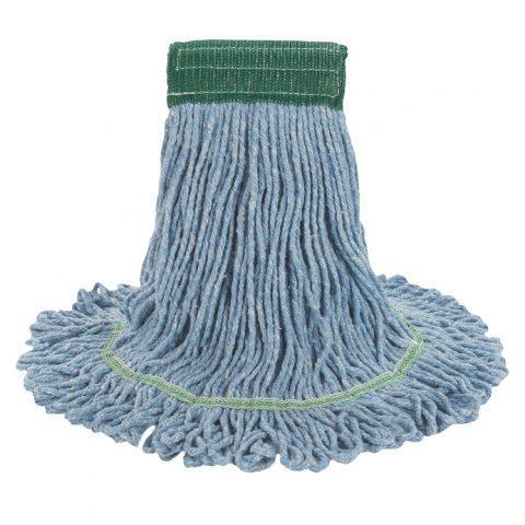 Super Loop Wet Mop Head Cotton/Synthetic Blend Blue Medium BWK502BLCT