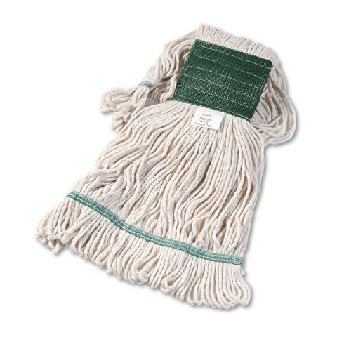 Super Loop Wet Mop Head Cotton/Synthetic Blend White Medium BWK502WHCT