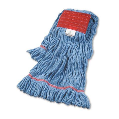 Super Loop Wet Mop Head Cotton/Synthetic Blend Blue Large BWK503BLCT