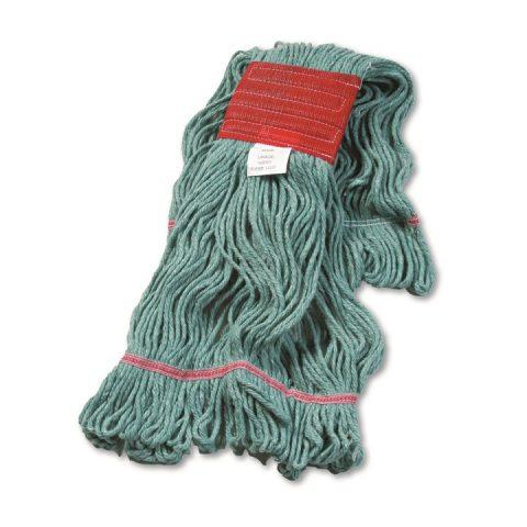 Super Loop Wet Mop Head Cotton/Synthetic Blend Green Large BWK503GNCT