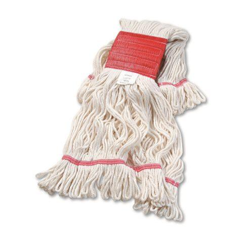 Super Loop Wet Mop Head Cotton/Synthetic Blend White Large BWK503WHCT
