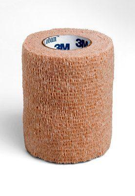 "Dukal Cohesive Self Adherent Wrap Bandage Tan 3"" x 5yds 8035T"