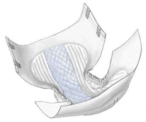 Wings Tab Closure Plus Quilted Briefs, Large 66034