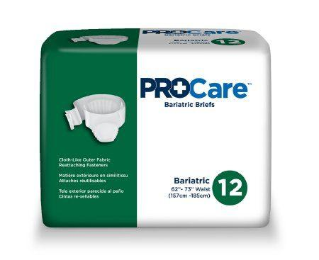 ProCare Bariatric Adult Briefs, 2X-Large, Heavy Absorbency