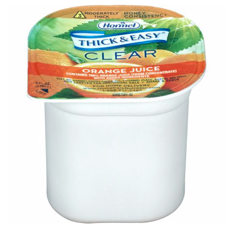 Thick and Easy Thickened Beverage, Orange Juice Flavor, 4oz - 32192