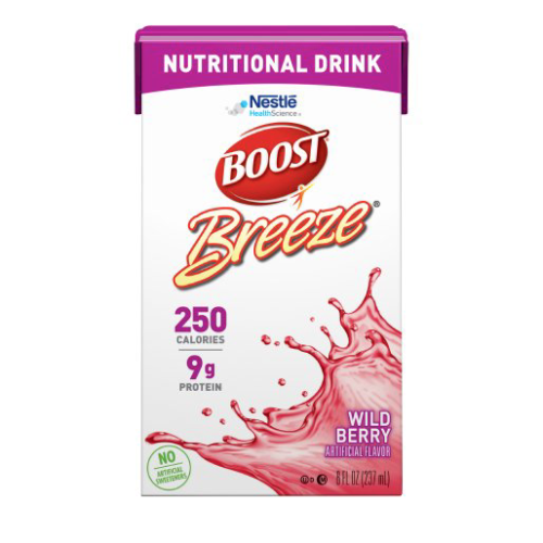Boost Breeze Wild Berry - 8oz Tetra Brik - Nestle Nutritional Drink - 18660000