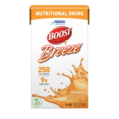Boost Breeze Orange - 8oz Tetra Brik - Nestle Nutritional Drink - 18620000