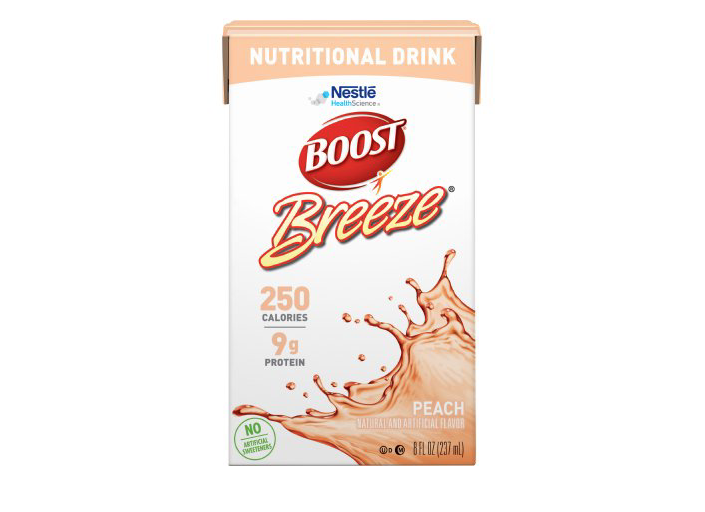 Boost Breeze Peach - 8oz Tetra Brik - Nestle Nutritional Drink - 18640000