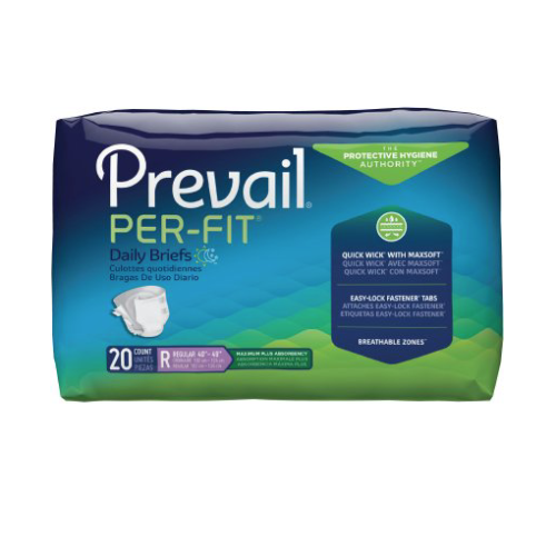 Prevail Per-Fit Adult Brief, Regular, Heavy Absorbency