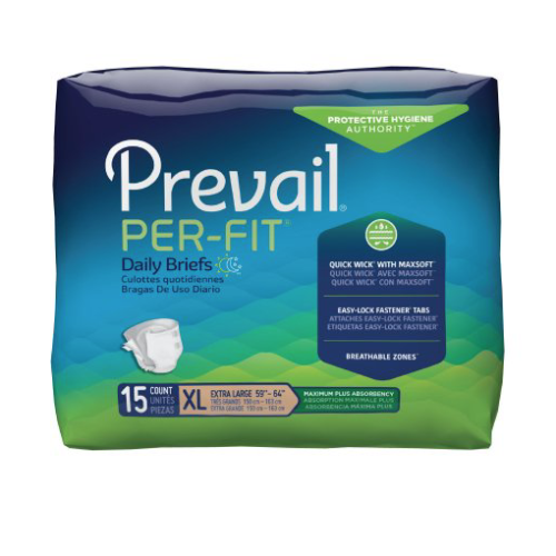 Prevail Per-Fit Adult Brief, X-Large, Heavy Absorbency