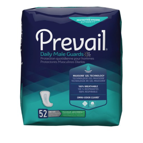 Prevail Daily Male Guards, One Size Fits Most, Heavy Absorbency