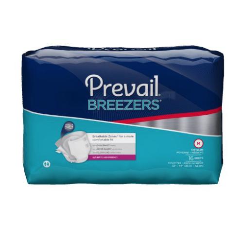 Prevail Breezers Adult Brief, Medium, Heavy Absorbency
