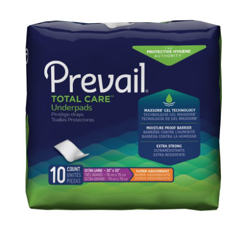 Prevail Total Care Adult Underpads, X-Large, Heavy Absorbency