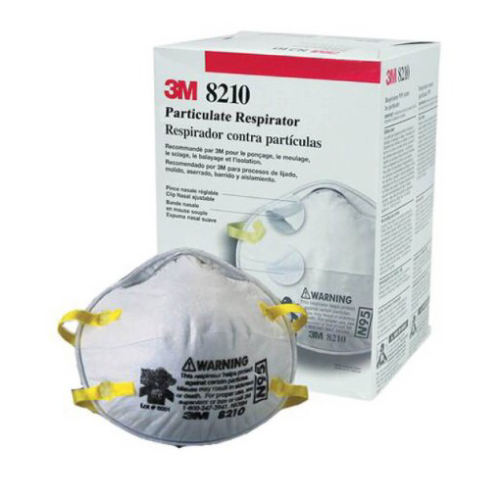 Particulate Respirator, 3M Industrial N95 Mask with Elastic Strap, One Size Fits Most, NonSterile
