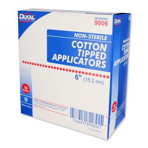 "Dukal Applicators, Cotton-Tip 6"", Non Sterile 9006"