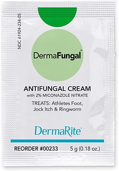 DermaFungal 2% Strength Antifungal Cream, 5 Gram Individual Packets, Box of 144