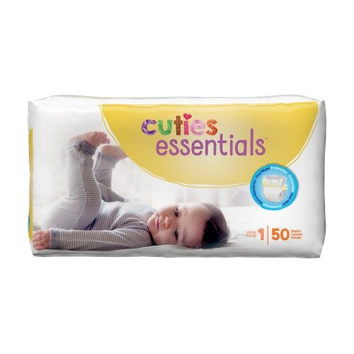 Cuties Baby Diapers, Size 1 CR1001