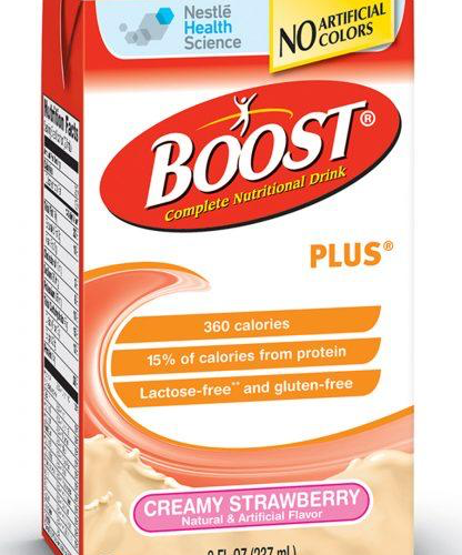 Boost Plus Strawberry - 8oz Tetra Brik - Nestle Nutrition Drink